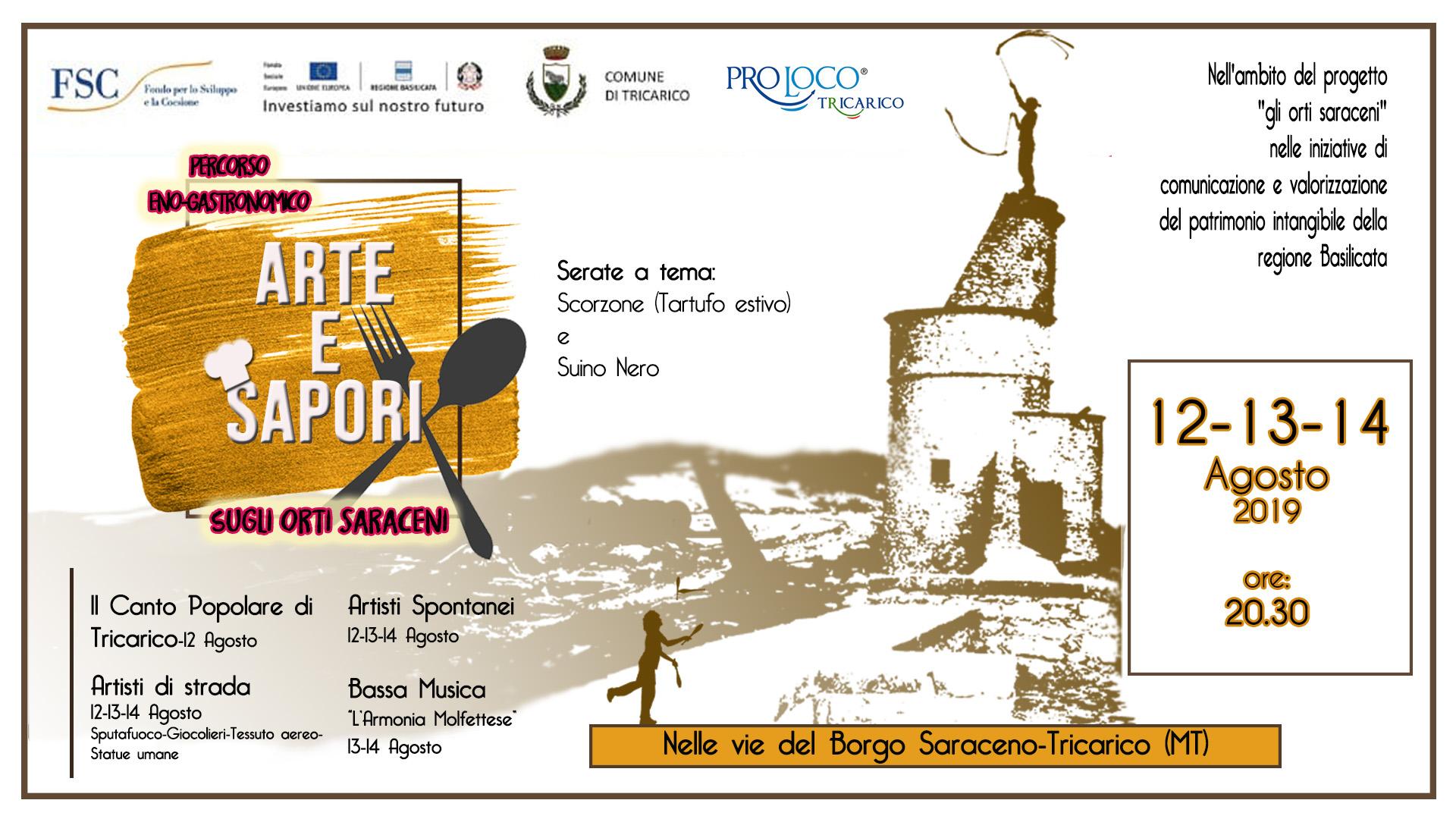 """Percorso eno-gastronomico: """"Arte e Sapori"""" sugli Orti Saraceni"""